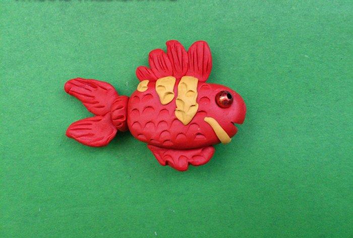Лепка животных из пластилина - рыбка, фото 3