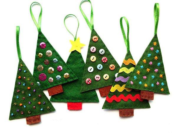 Новогодние игрушки из фетра, фото 7