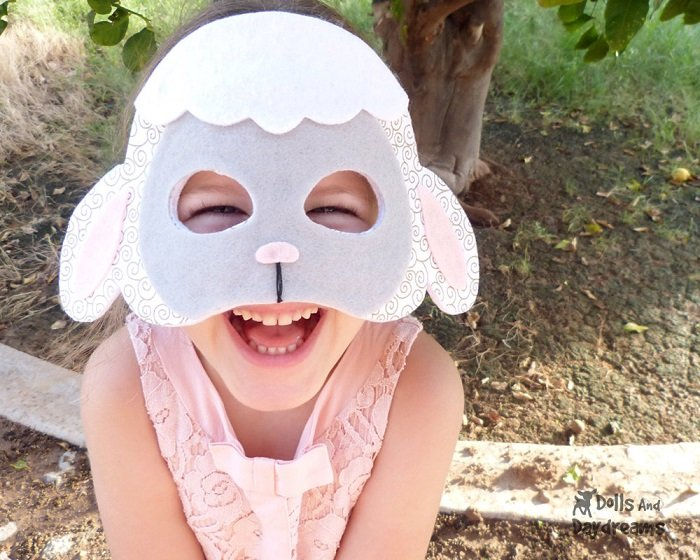 Маскарадные маски овечки из фетра своими руками, фото 3