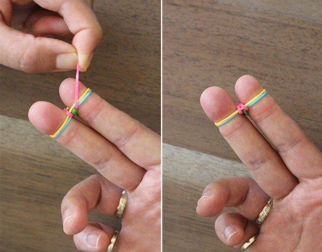 Плетение резинками без станка, инструкция - фото 6