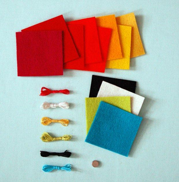 Дитячі поробки з фетру своїми руками - рибки з фетру, фото 1