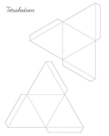 Схема Тетраэдра из бумаги