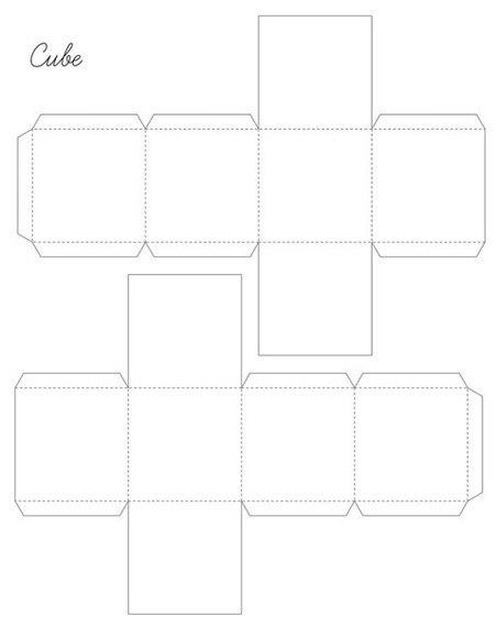Схема куба из бумаги
