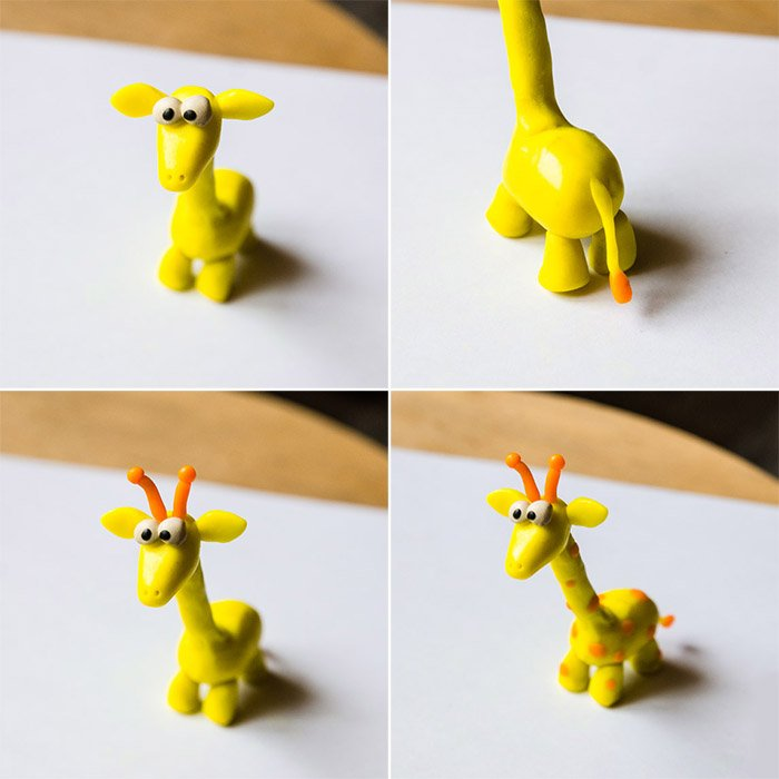 Лепка животных из пластилина - жираф, фото 3