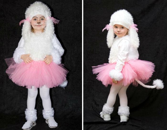 Новорічний костюм собаки для дівчинки