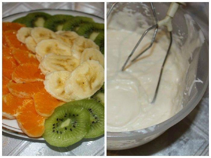 Рецепт зефирного торта с фруктами без выпечки, фото 1
