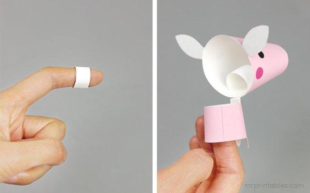 Як зробити пальчиковий театр з паперу, фото 6