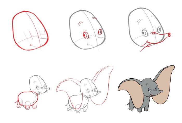 Як малювати слона поетапно, фото 5