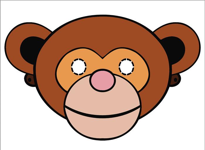 Маска мавпи з паперу своїми руками, фото 14