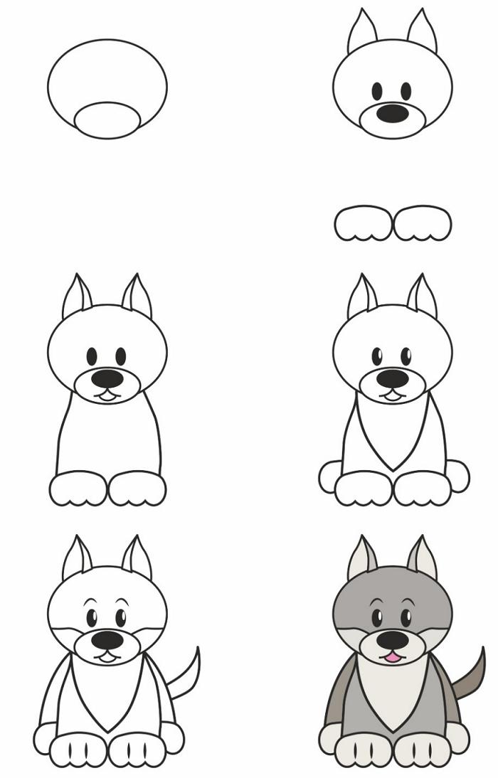 Как нарисовать волченка урок 2