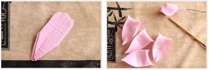 Розы из гофробумаги своими руками - фото 20