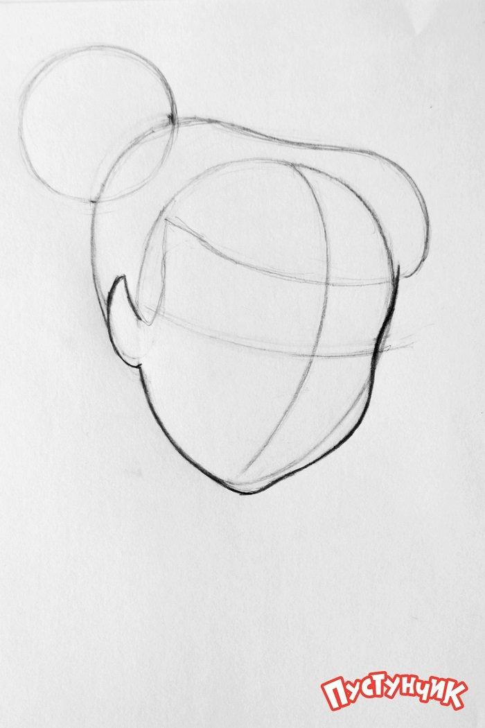 Як намалювати фею Дінь-Дінь поетапно - фото 2