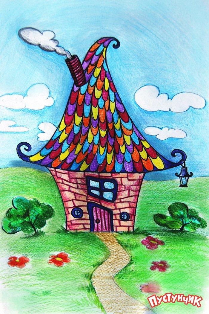 Как нарисовать сказочный дом - фото 6