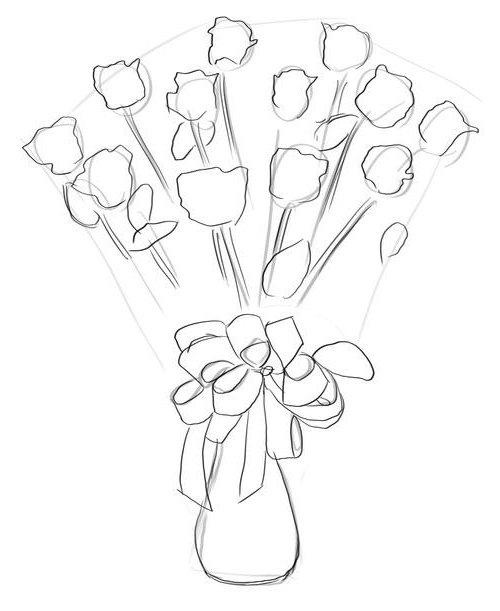 Как нарисовать розу шаг за шагом – схема, фото 26