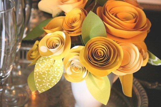 Розы из бумаги - фото 14