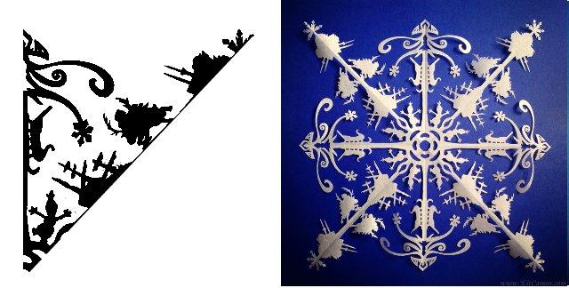 Схема вирізання сніжинок 2