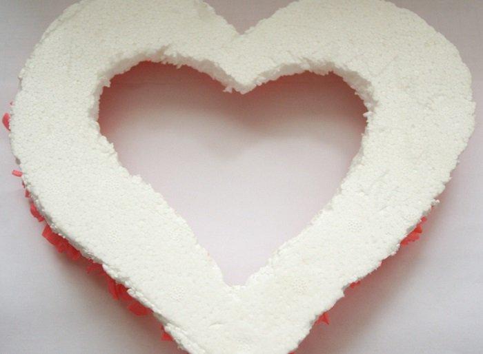 Заготовка сердца из пенопласта