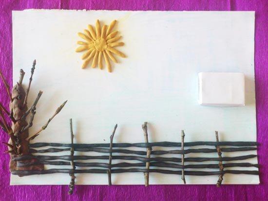 Ліплення з пластиліну в дитячому садку - парканчик, фото 7