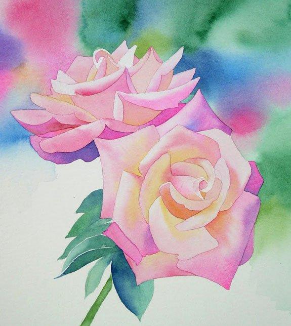 Как нарисовать розу шаг за шагом – схема, фото 20