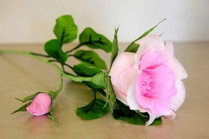 Розы из гофробумаги своими руками - фото 25