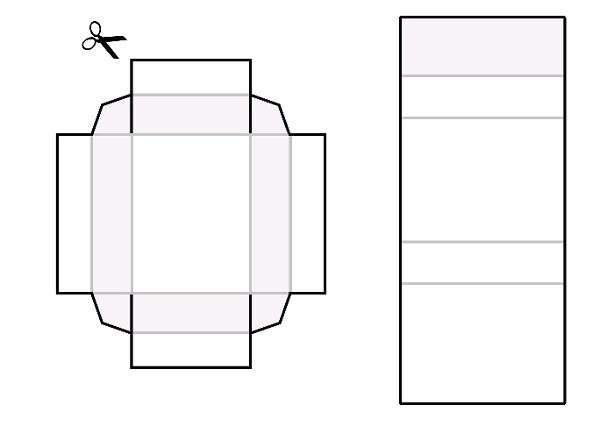 Гирлянда коробочка шаг 1