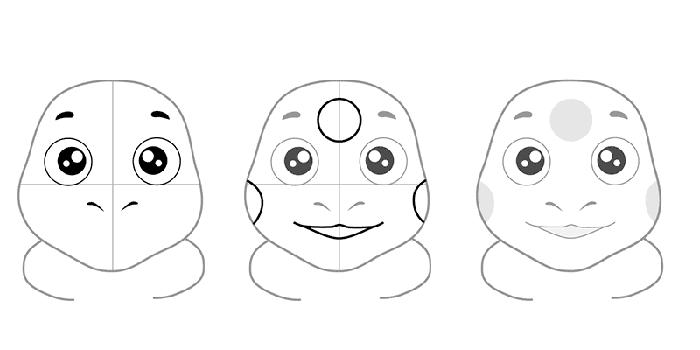 Як намалювати Лунтика, схема 2 - фото 2