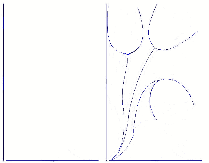 Як намалювати тюльпани Схема 2