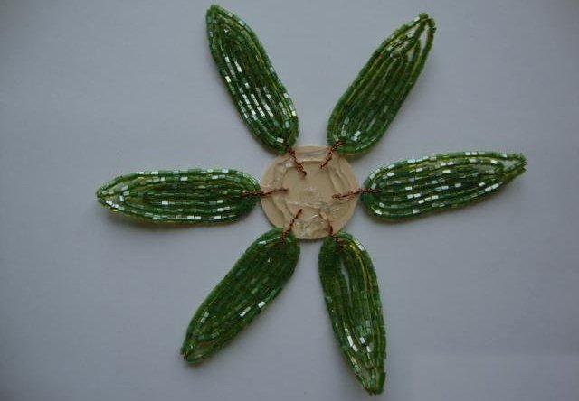 Лилии из бисера, схемы плетения - фото 6