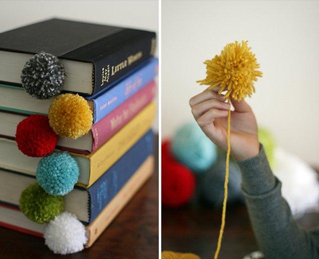 Вироби з ниток своїми руками - закладка для книг