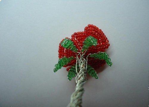 Розы из бисера, схемы. Мастер-класс, фото 11
