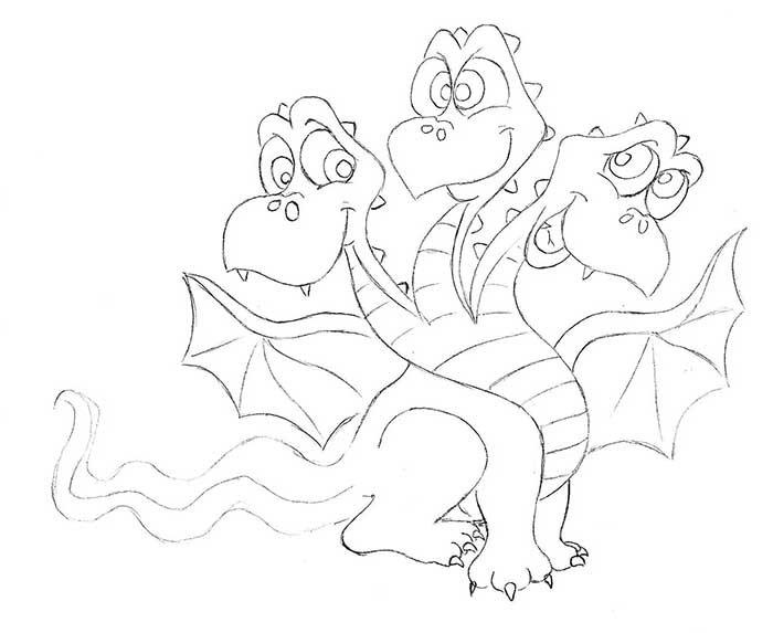 Как рисовать драконов шаг за шагом, схема 1 - этап 8