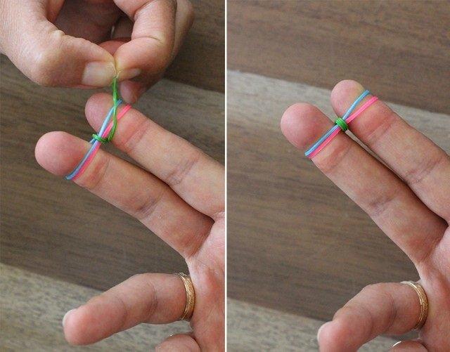 Плетіння резинками, браслети на пальцях. Інструкція - фото 3