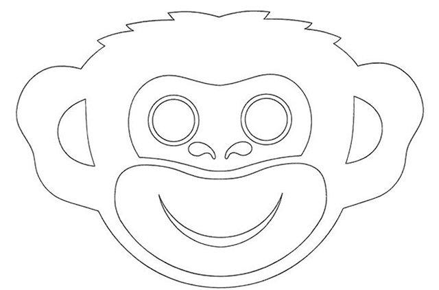 Новорічна маска мавпочки
