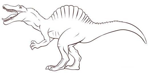 Как нарисовать динозавра Спинозавра, шаг 7