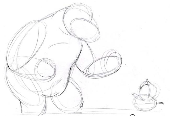 """Малюємо ведмедика з мультфільму """"Маша і Ведмідь"""" крок 2"""