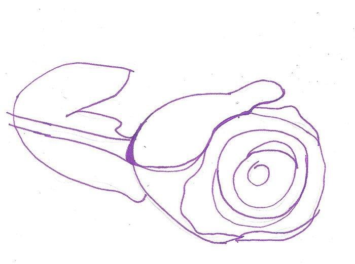 Як намалювати троянду крок за кроком – схема, фото 2