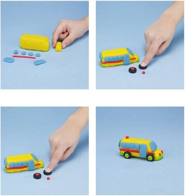Фігурки з пластиліну - автобус, фото 1