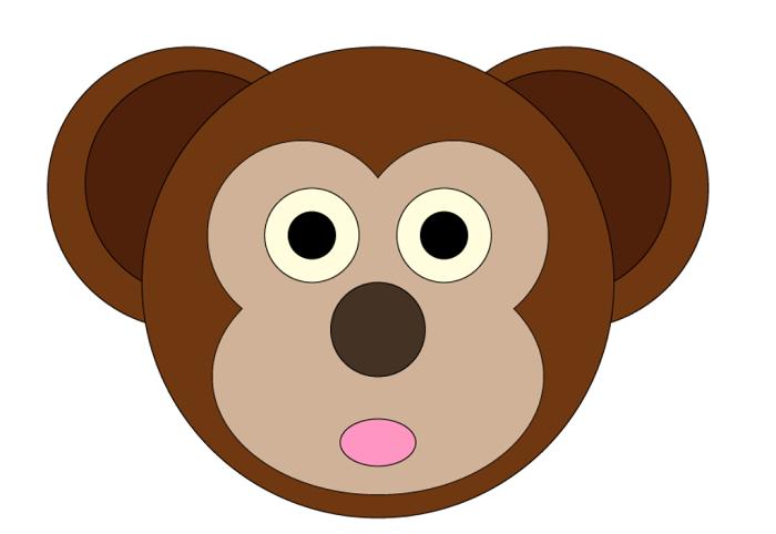 Маска мавпи з паперу своїми руками, фото 13