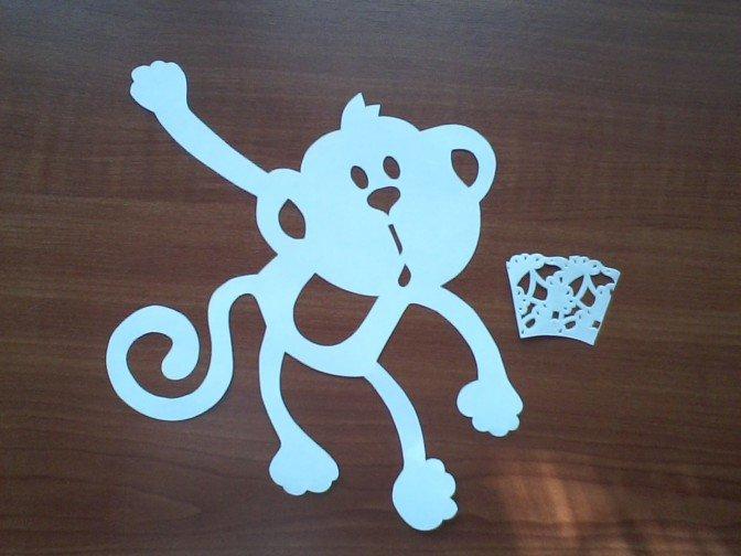 Как сделать витинанку-обезьянку на Новый год, фото 6