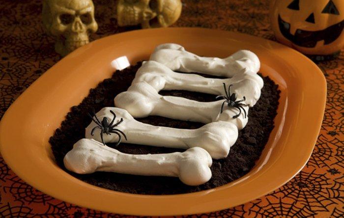 Страви на Хелловін - Кістки з безе