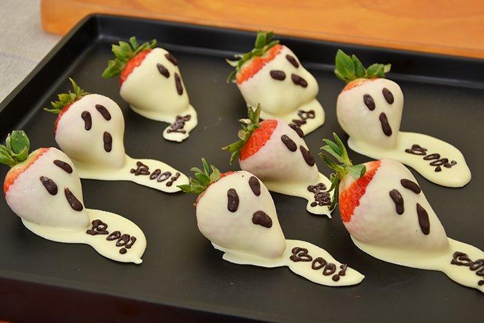 Рецепт на Хеллоуин - Пугливая клубника