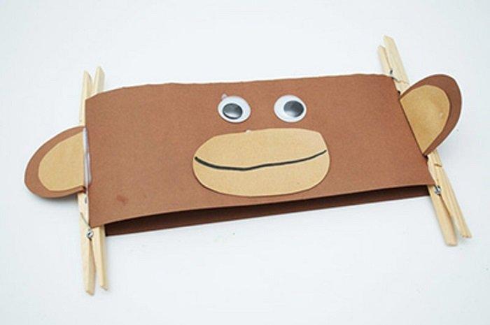 Маска обезьяны из бумаги своими руками, фото 9