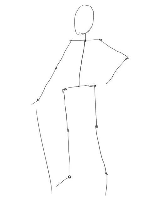 Как рисовать казака шаг за шагом - этап 1