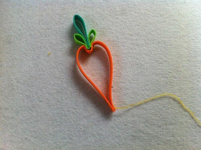Гирлянда из фетровых морковок шаг 5