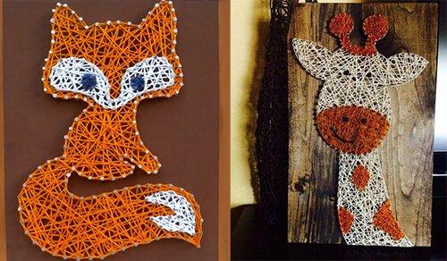 Панно картини з цвяхів і ниток. Схема 1