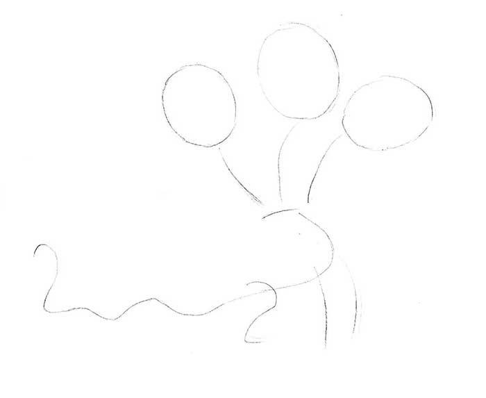 Как рисовать драконов шаг за шагом, схема 1 - этап 1