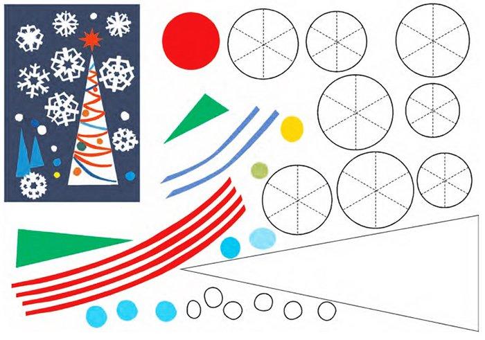 Новорічні витинанки - шаблони витинанок для дітей, фото 3