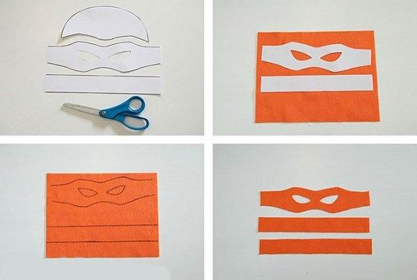 Как сделать маску черепашки-ниндзя, фото 3