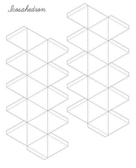 Схема икосаэдра из бумаги