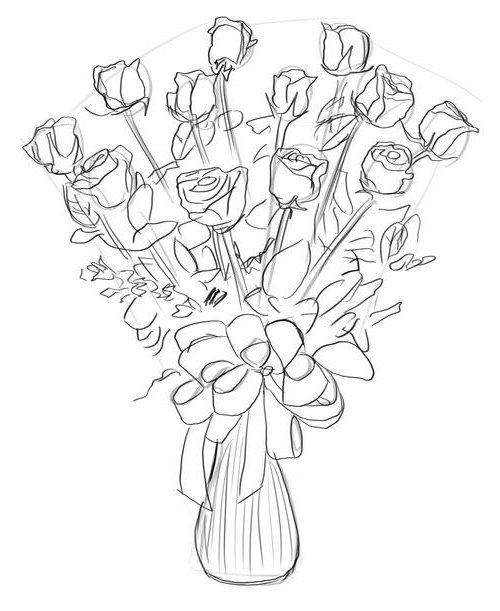Как нарисовать розу шаг за шагом – схема, фото 28